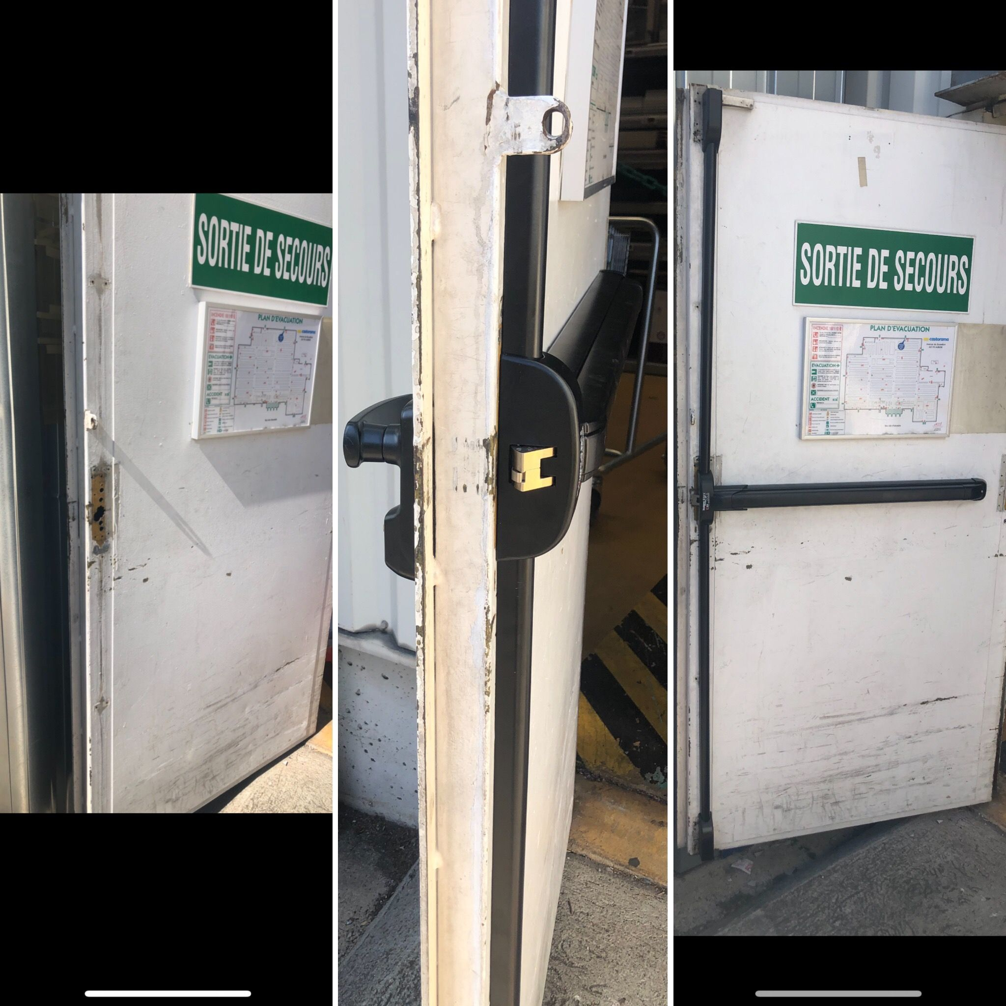 Depannage Porte De Secours Magasin Par Af Serrurerie Clermont Ferrand Urgence 63 Remplacement Barre Anti Pani Porte De Secours Porte De Chambre Portes De Cave