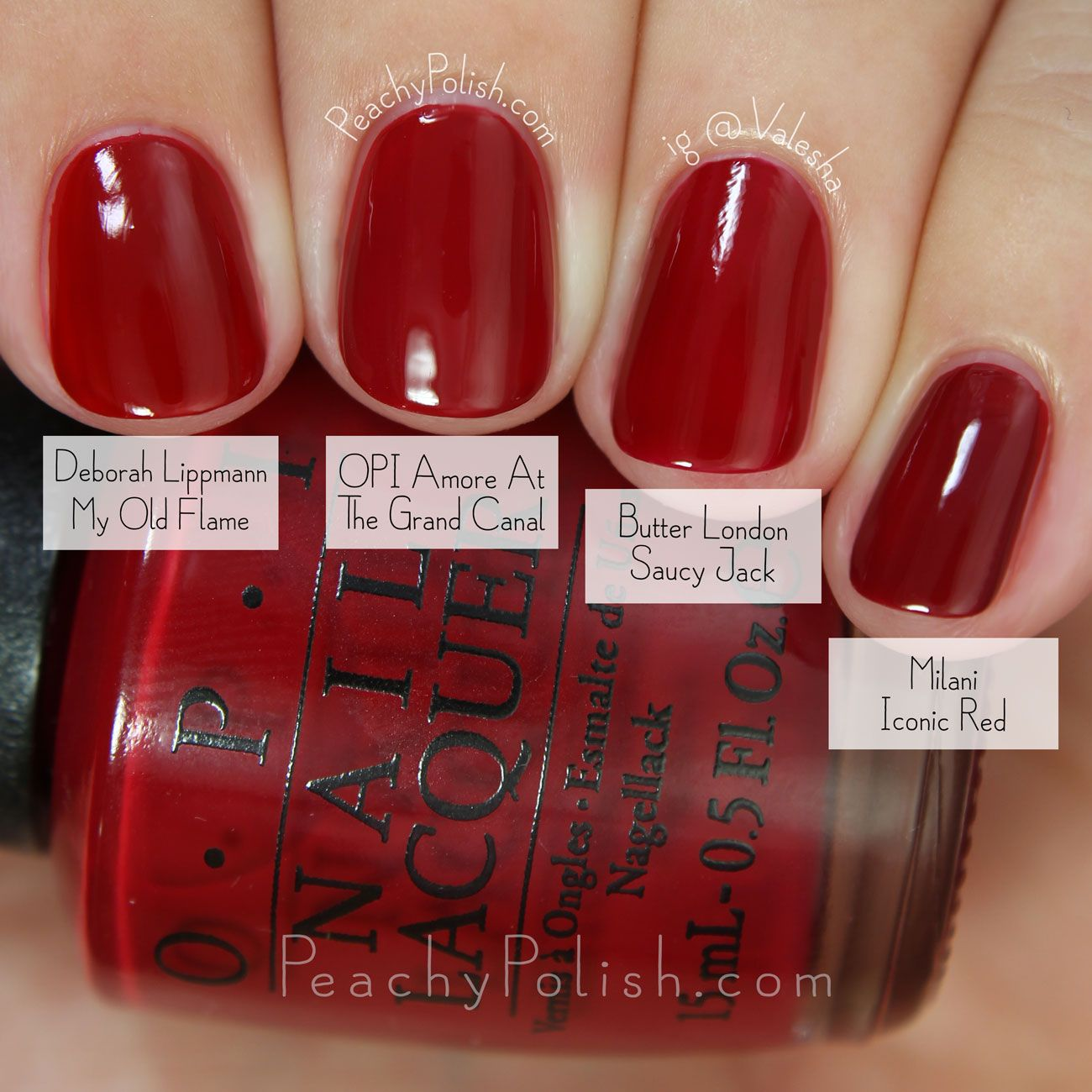 Opi Fall 2015 Venice Collection Comparisons Opi Red Nail Polish Nails Nail Polish