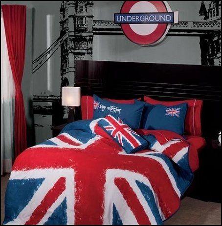 Funda Nordica Underground.London Town Red Bus Union Jack Tower Bridge Underground Big Ben