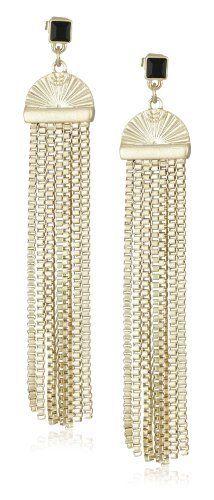 Martine Wester Jewelry Deco Style Fringe Earrings