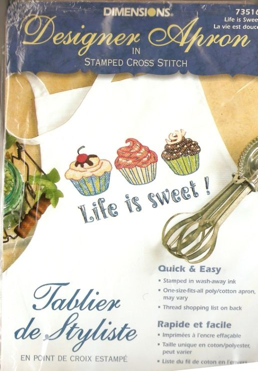 Dimensions Needlecrafts Life is Sweet Stamped Cross-Stitch Apron