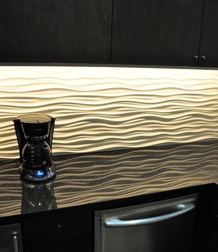 "Contemporary Kitchen Backsplash Designs: Love This ""Dune Tile"""