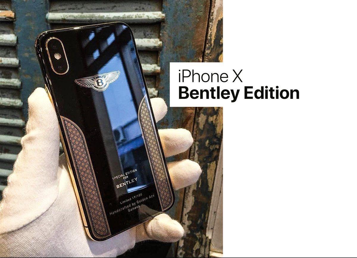 شركة بنتلي الفاخرة للسيارات تطلق إصدار خاص من Iphone X بعد اندماج نادر بين بنتلي وآبل Iphone Samsung Galaxy Phone Electronic Products