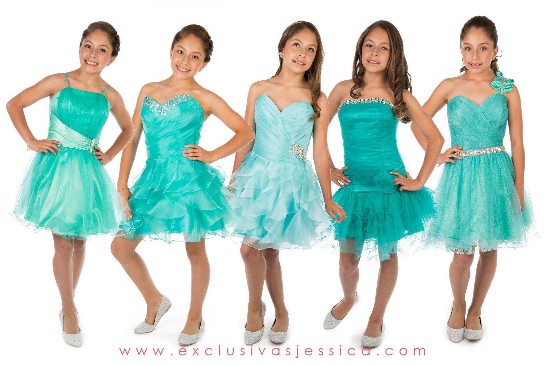 Imagenes de vestidos color verde agua para graduacion