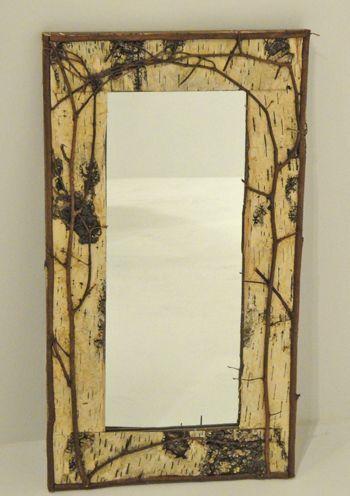 Birch Bark Framed Mirror Design #3 Item #MR05921 24\