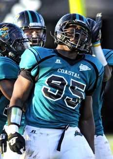 Coastal Carolina Defensive End Quinton Davis College Football Football Football Helmets