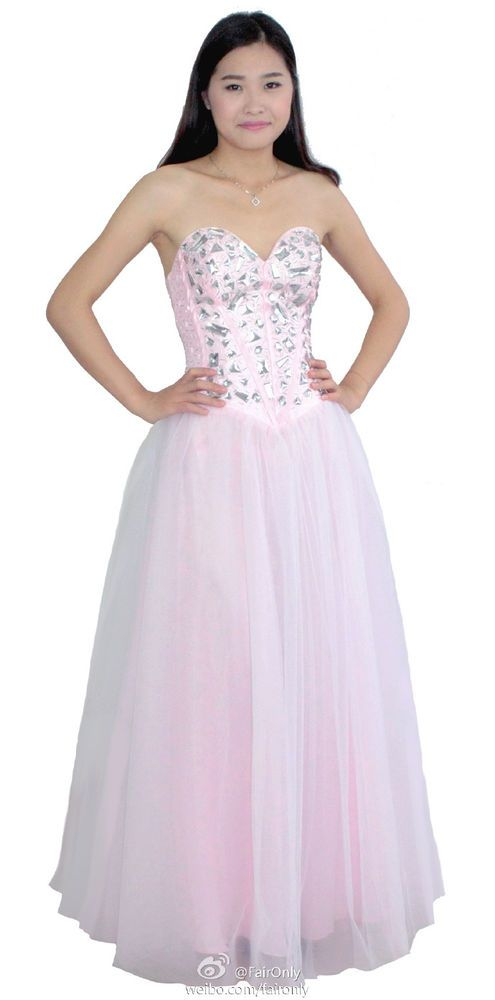 FairOnly Stock Women\'s Crystal Prom Gown Formal Dresses Size 6 8 10 ...