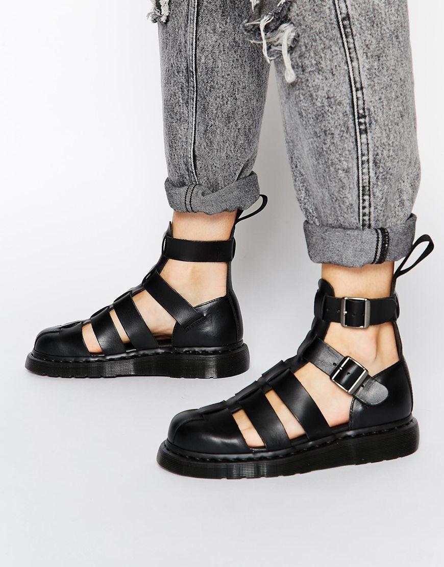 Black sandals grunge - Asos Com Dr Martens Shore Reinvented Gladiator Geraldo Ankle Strap Sandals 110 00