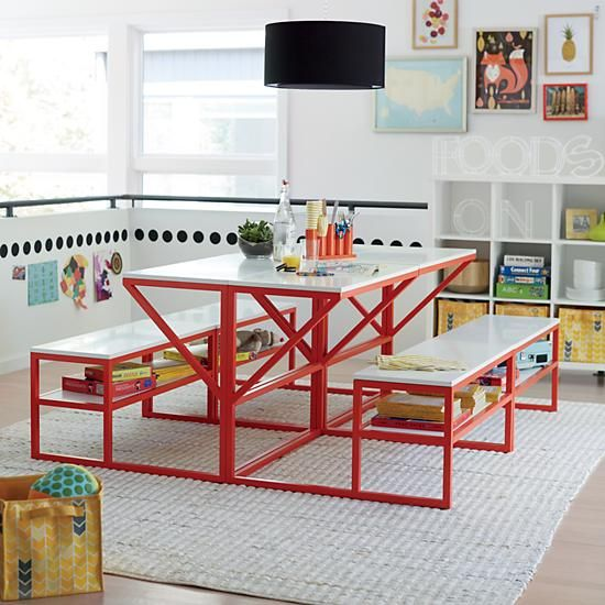 new school desk with bench from the land of nod as seen on swiss rh pinterest com land of nod desk and hutch land of nod desk accessories