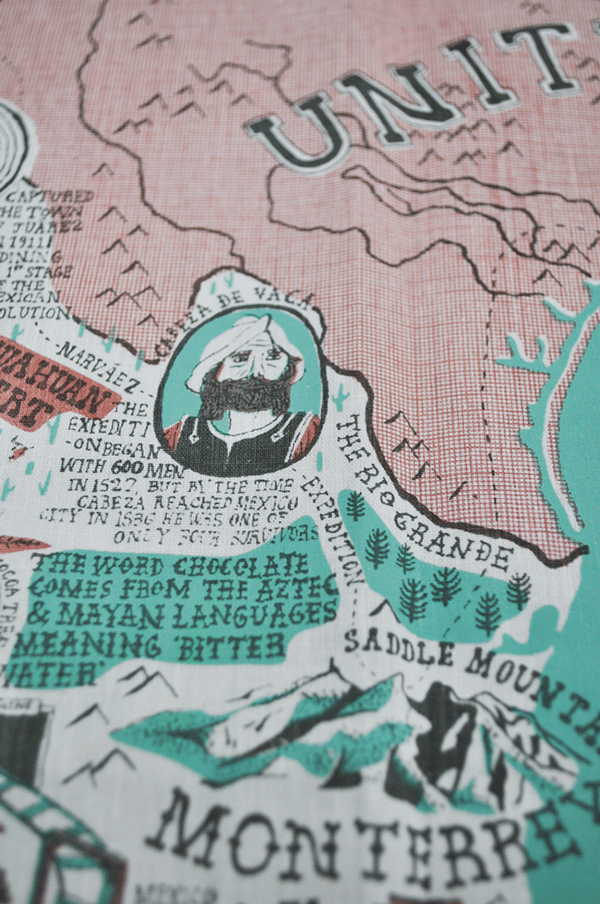 betype: Mexico Map by Stuart Hill - Good typography
