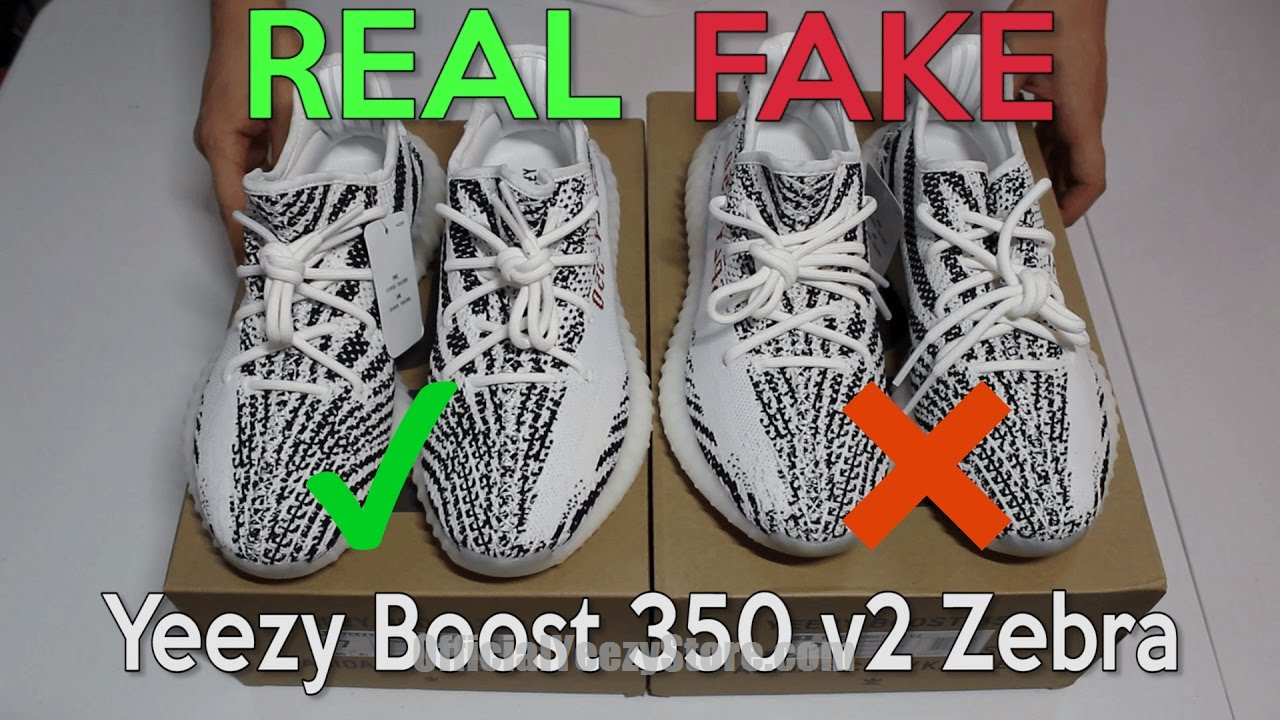 YEEZY BOOST 350 V2 ZEBRA Real Vs. Fake (LEGIT CHECK) #gym #