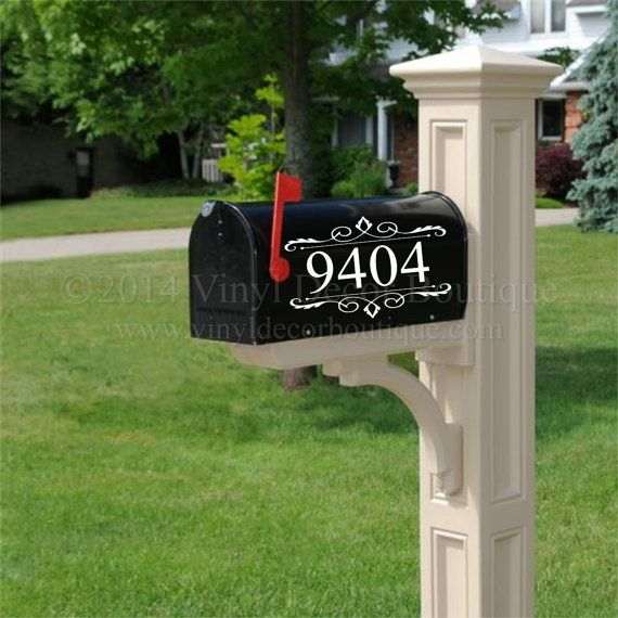 mailbox house number decal vinyl lettering vinyl decals