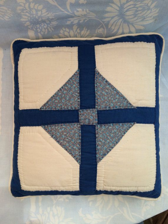Quilted Pillow by ZuzusAttic on Etsy
