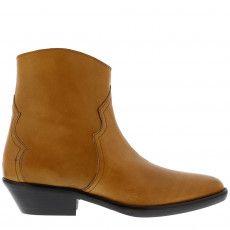 beb0147b83f Shop online at www.marjonsnieders.nl > Isabel Marant enkellaarsjes Danstee  camel