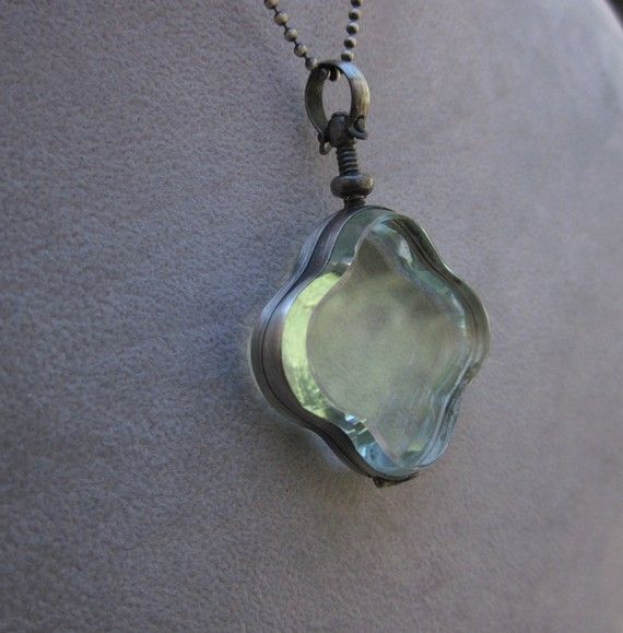antique glass locket