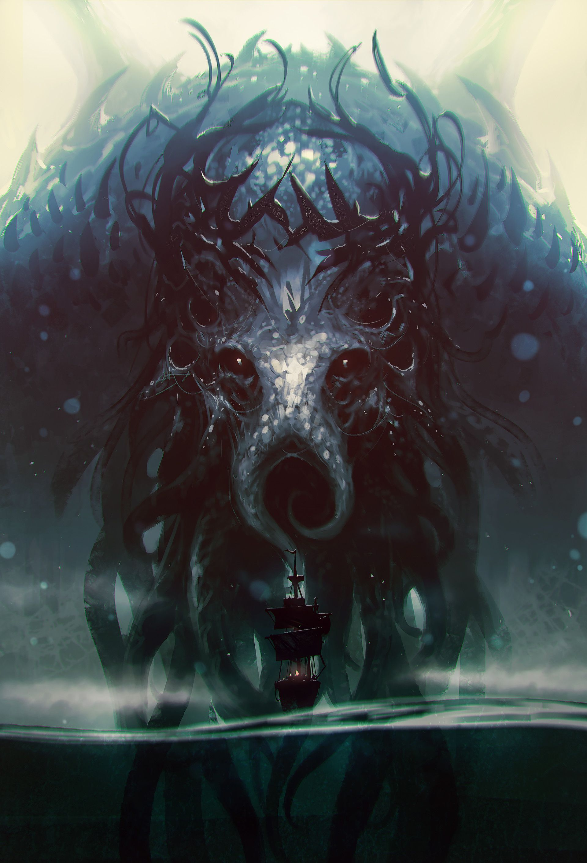Https Www Artstation Com Artwork 05oqe Lovecraftian Horror Cosmic Horror Fantasy Artwork