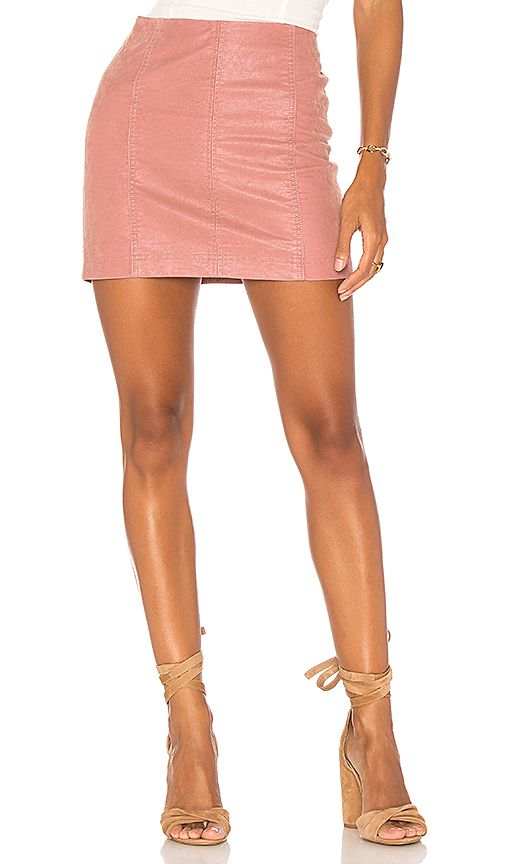 d7a6ac59ff Shop for Free People Modern Femme Vegan Suede Mini Skirt in Rose at  REVOLVE. Free 2-3 day shipping and returns