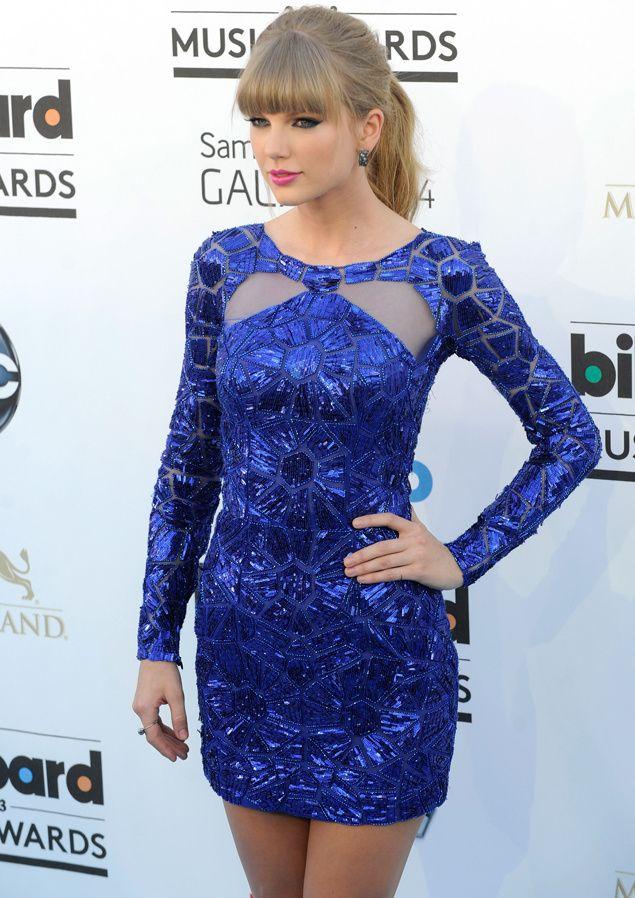 Vestido azul. Blue dress. Zuhair Murad. Billboard Music Awards 2013 ...