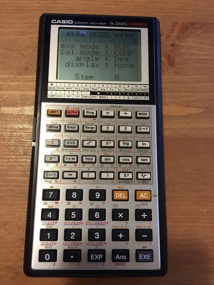 Vintage Casio CalculatorFxG Scientific Calculator A
