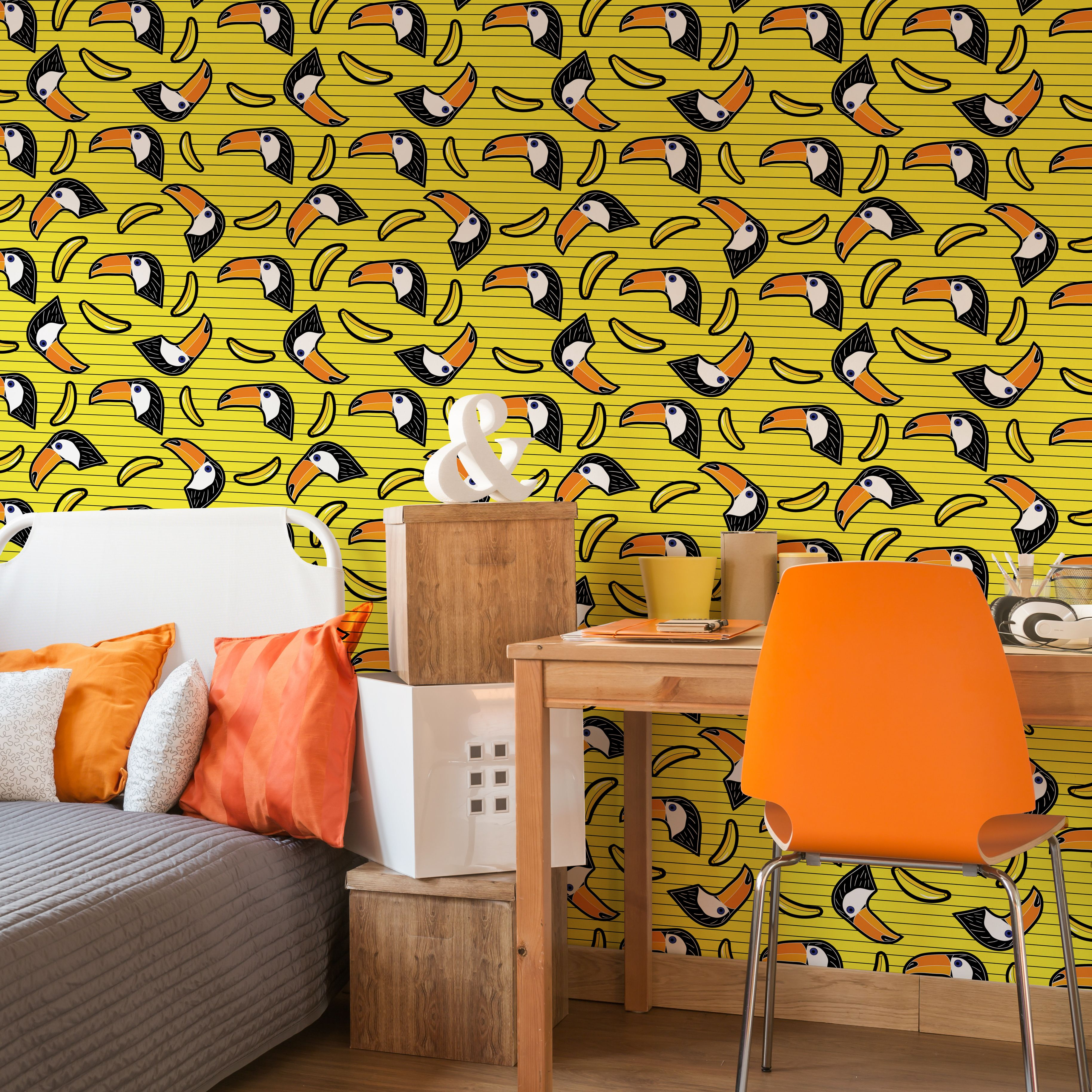 Toucan dizziness • Contemporary - Abstraction - Teenager\'s room ...