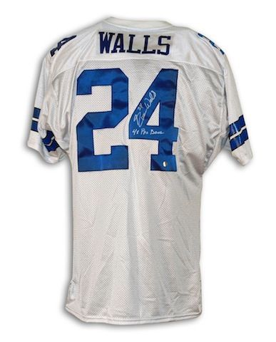 497ca294e Autographed Everson Walls Dallas Cowboys White Throwback Jersey Inscribed