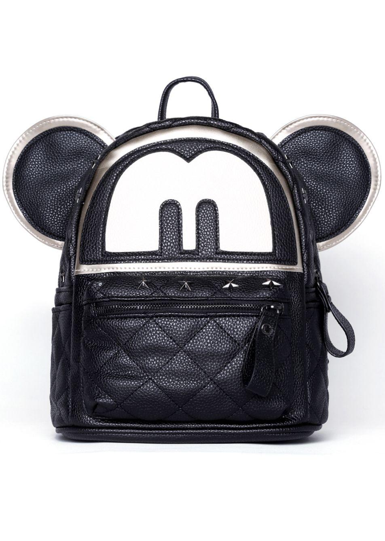 e3e1281c04 Black Mickey With Star Rivet Backpack 23.00