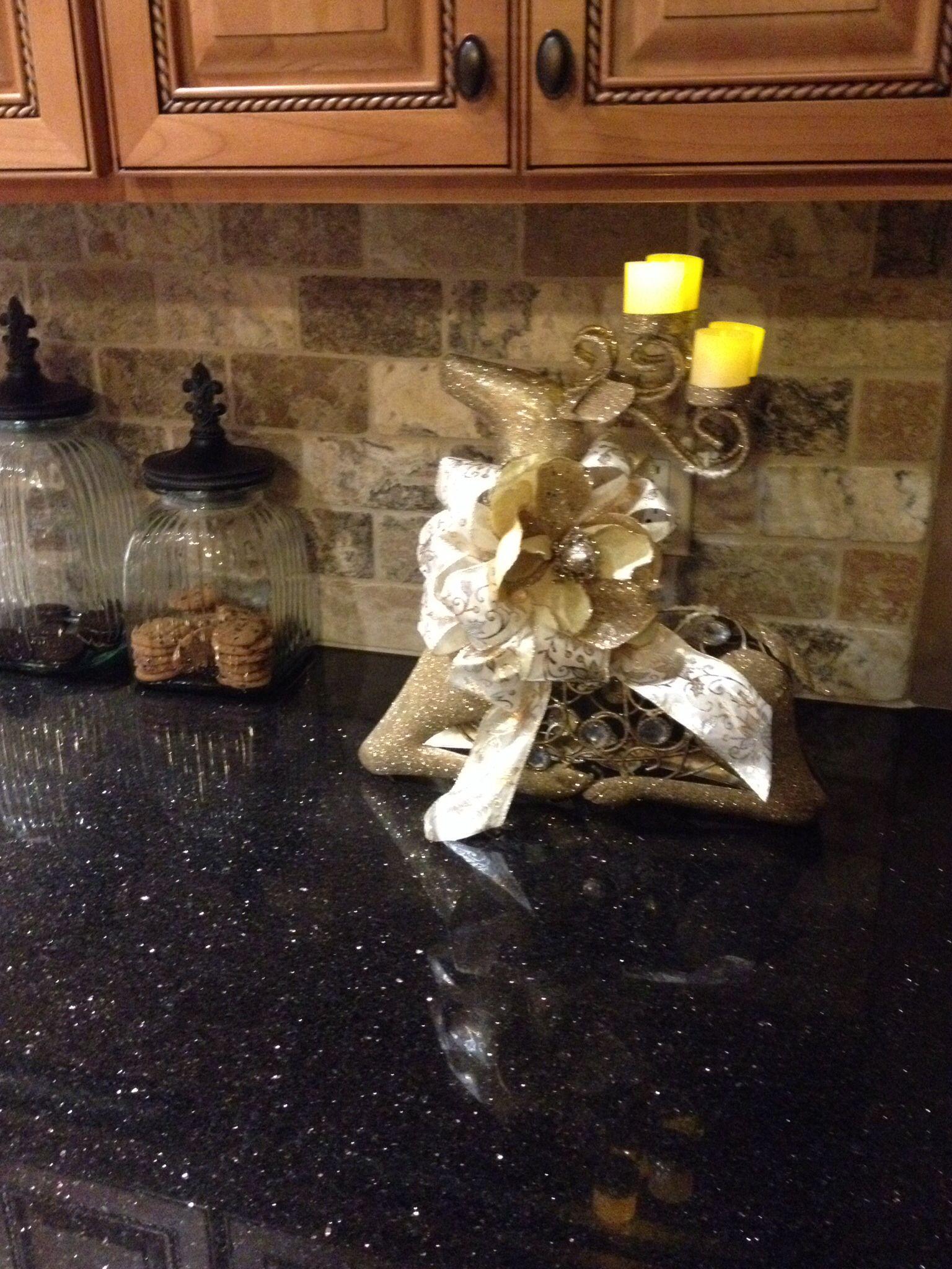 Backsplash Ideas For Black Granite Countertops And Maple Cabinets ...