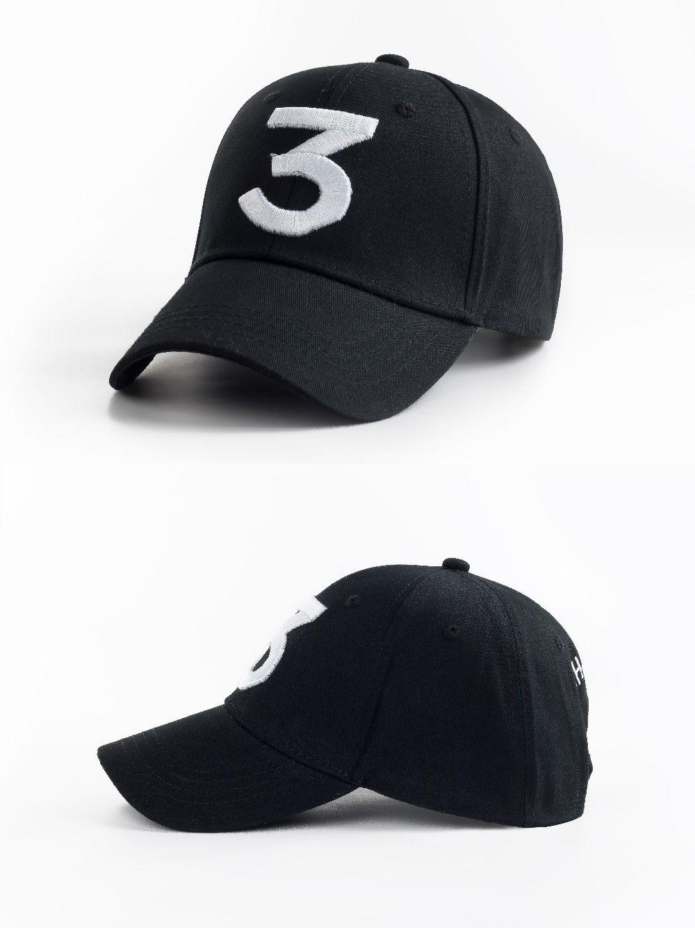 fda21410fcc Popular chance the rapper 3 Hat Cap Black Letter Embroidery Baseball Cap Hip  Hop Streetwear Strapback Snapback Sun Hat Bone