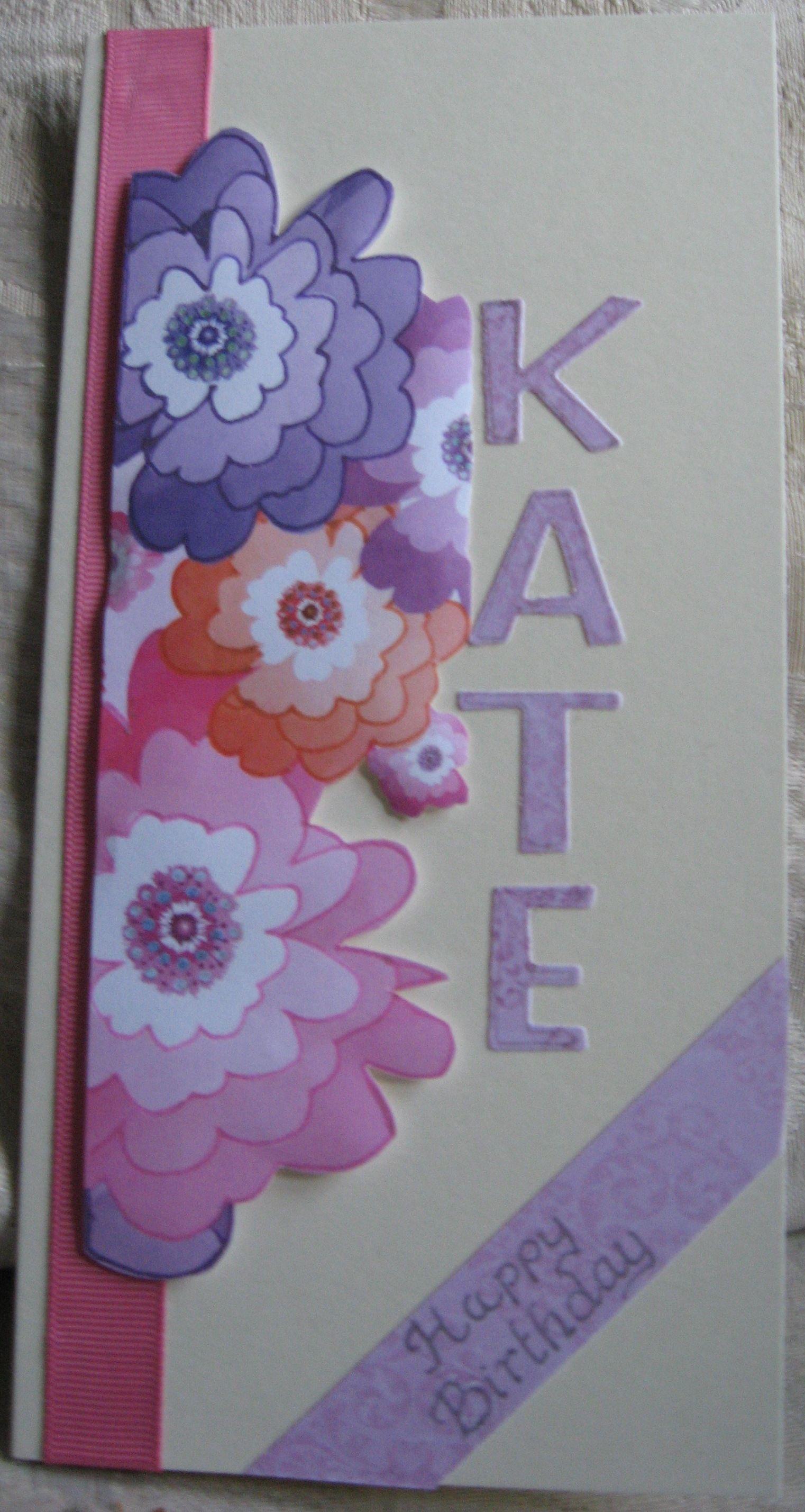 Kate Floral Card Handmade Greeting Cards Pinterest Making