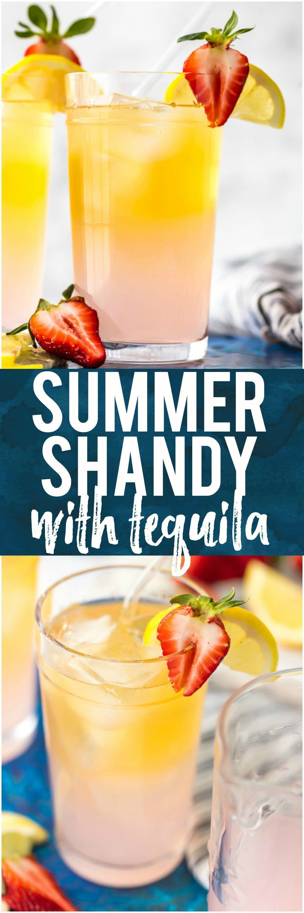 Summer Shandy Recipe with Tequila (Pink Summer Shandy) was my favorite fun cocktail in college! Made with pink lemonade, light beer, and tequila, its the perfect drink for warmer weather. There's something about tequila, beer and lemonade, that just go together. This Summer Beer is a recipe you'll make again and again. #tequila #beer #shandy #pink #lemonade #lemons #fruit #summer via @beckygallhardin