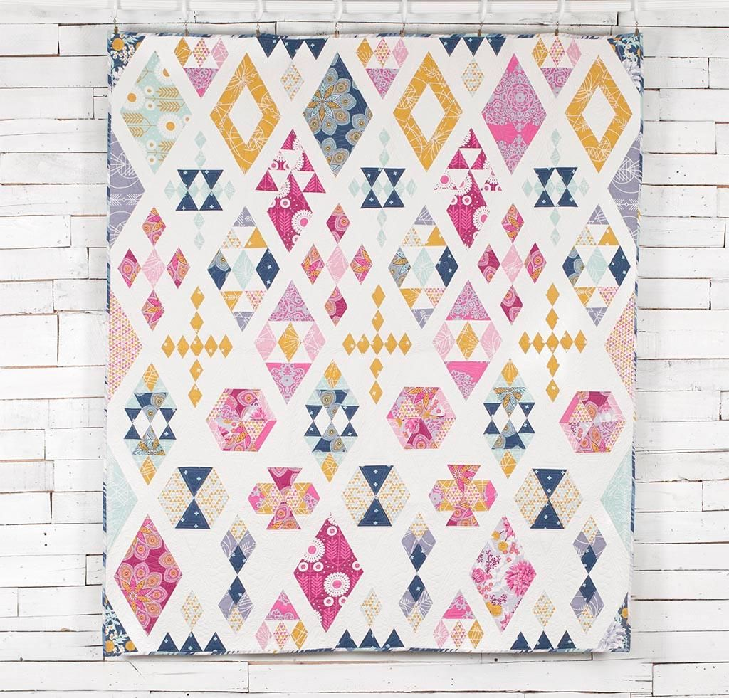 Freespirit Wander By Joel Dewberry Floating Diamonds Quilt Kit Quilting Kit Includes Fabric Pattern Quilts Diamond Quilt Quilt Patterns