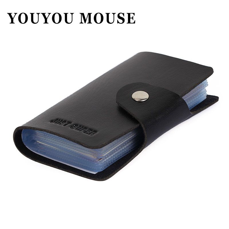 1pcs Free Shipping Men\'s Women Leather Credit Card Holder/Case Card ...