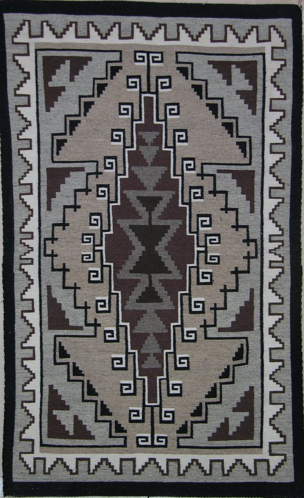 Two Grey Hills By Betty Baldwin Native American Rugs Artwork Navajo Weaving