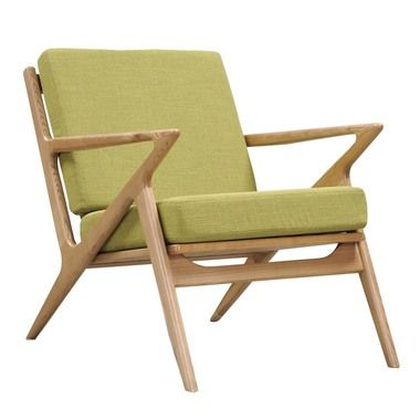 Nye Koncept 224477 A Avocado Green Zain Chair Natural