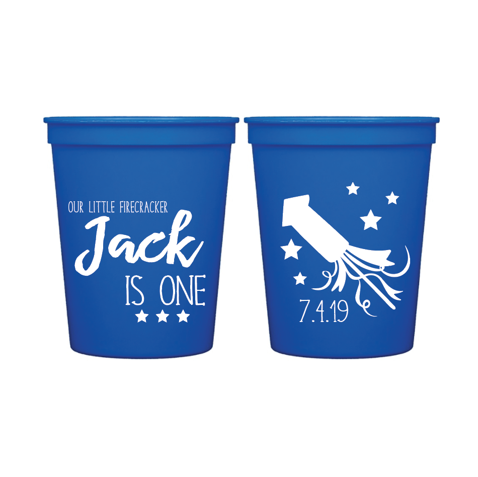4th of July Birthday Personalized Party Cup American Baby First 4th of July Stadium Cups 4th of July Cups -Summer Cups- First Birthday