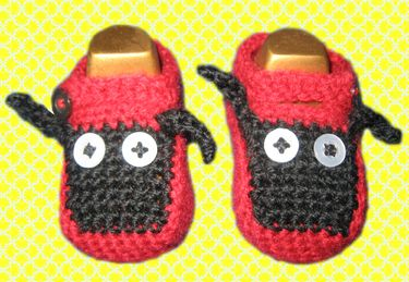 lady bug babyshoes