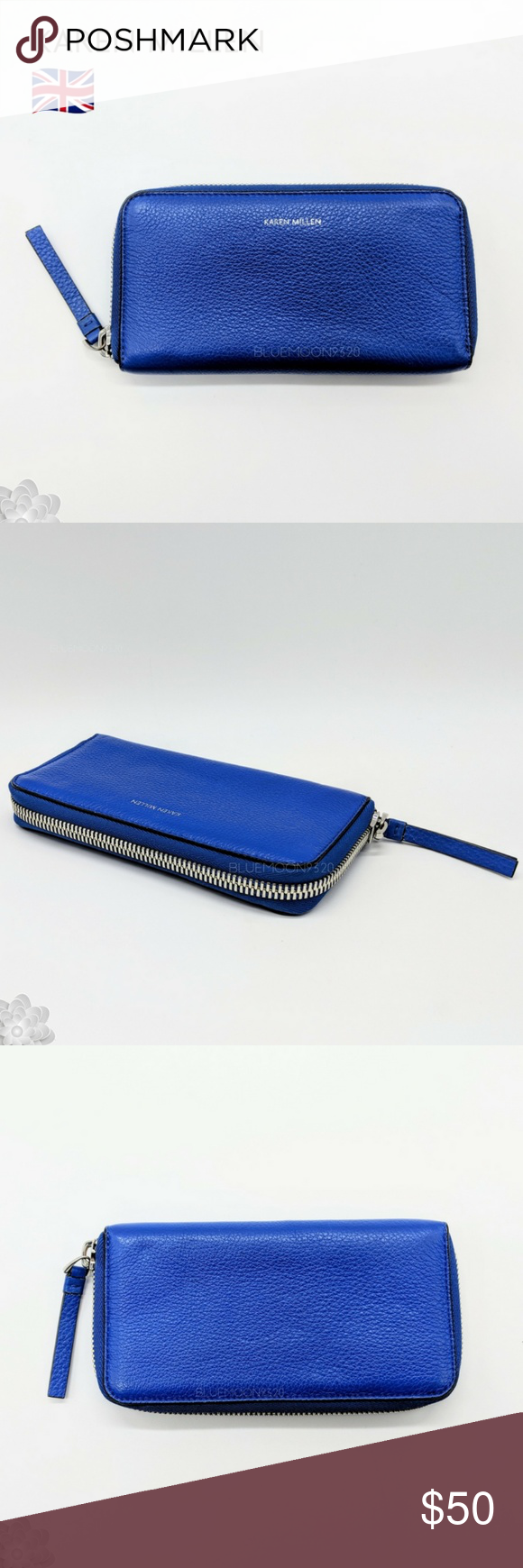 79cae021a42 KAREN MILLEN ENGLAND Wallet This leather zip around wallet is about 7.5