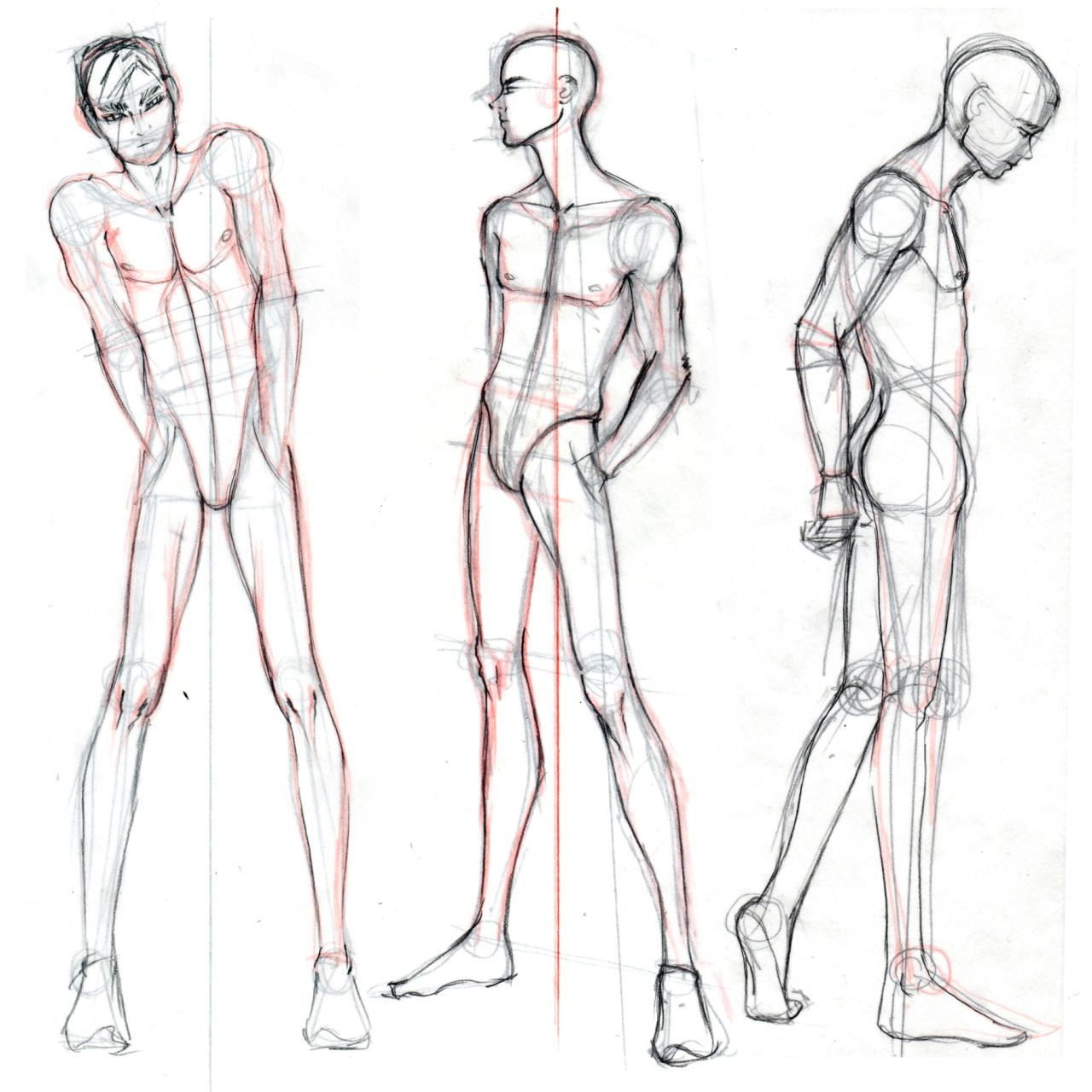 How to draw anime male body figures