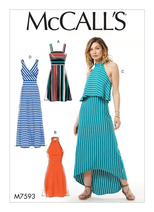McCall\'s sewing pattern M7593: Misses\' Sleeveless Pullover Dresses ...