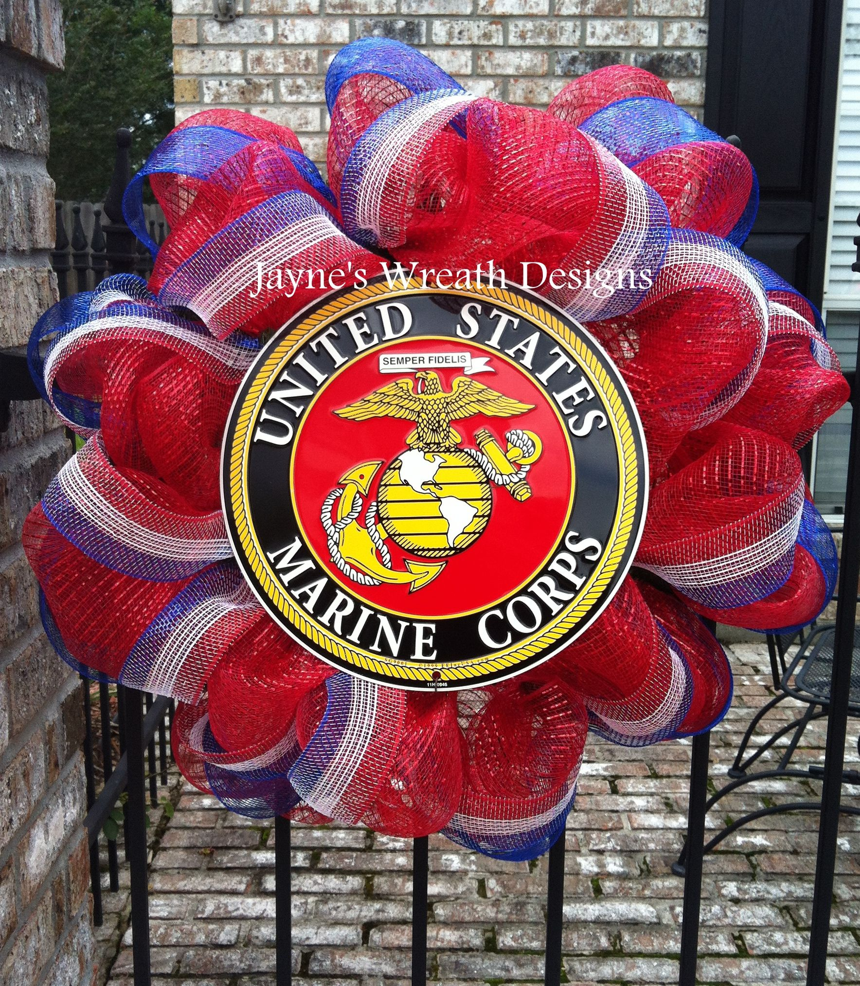 US Marine Corps Wreaths in Red, White, and Blue Military