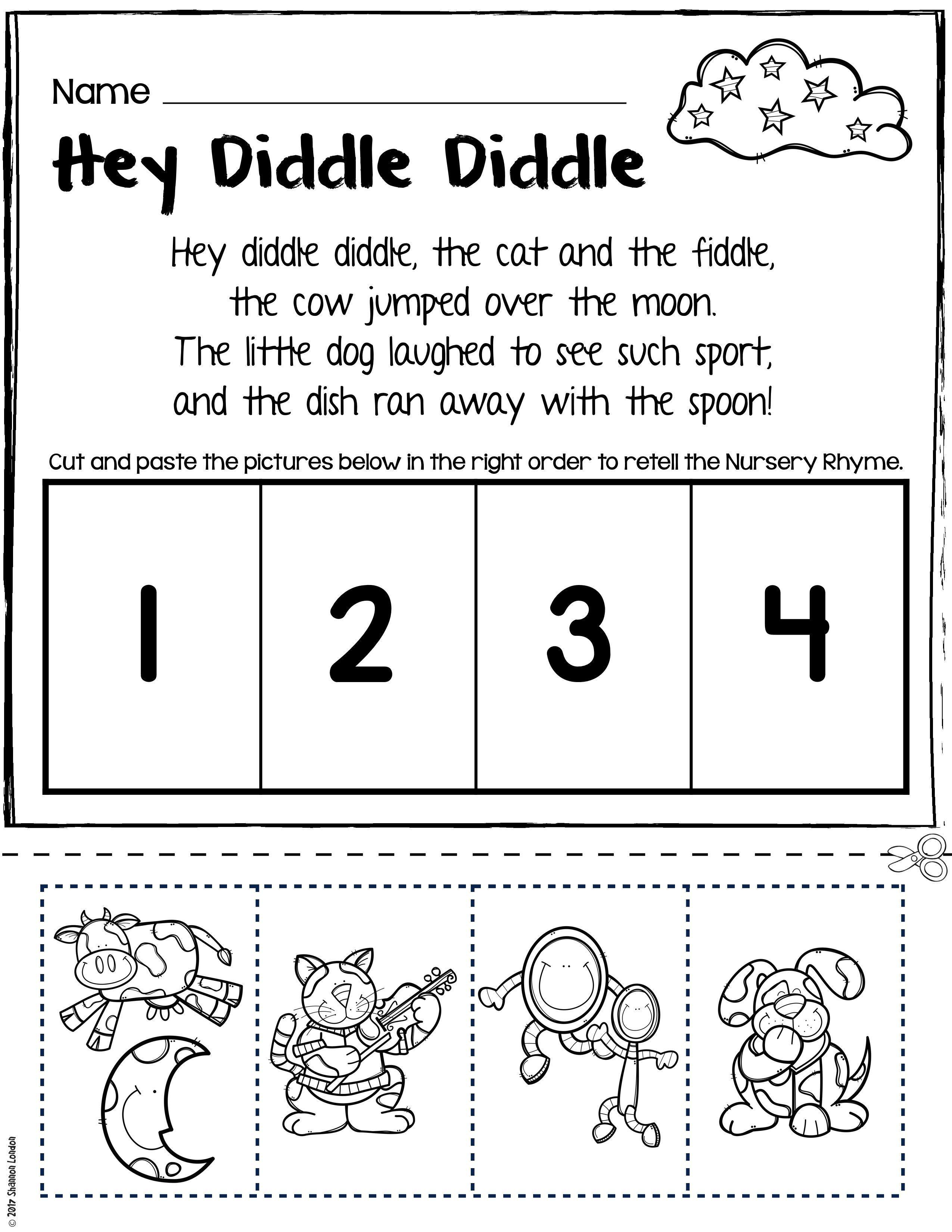 Nursery Rhyme Retelling Worksheets Unsecured 001
