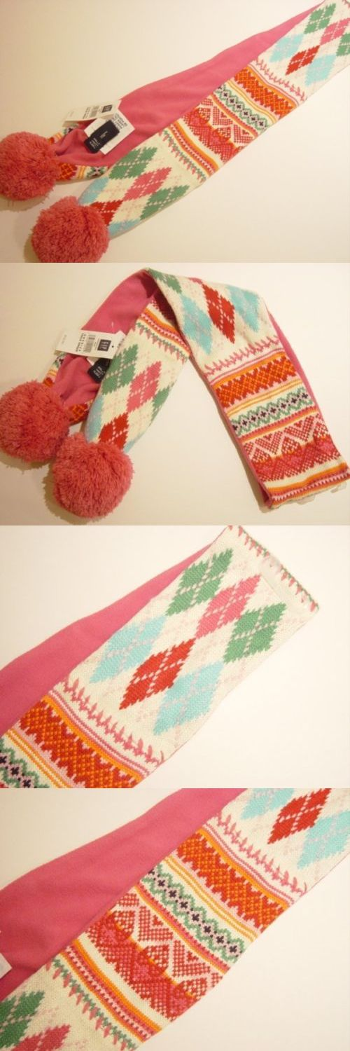 Scarves and Wraps 57927: Gap Kids Pink Fair Isle Fleece Lined ...