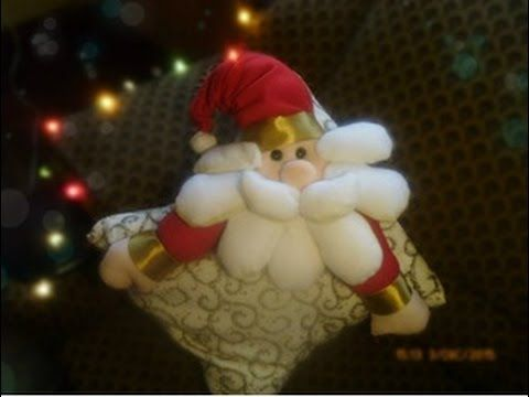 Cojin Navideno Papa Noel Youtube Videos De Manualidades - Manualidades-navideas-papa-noel