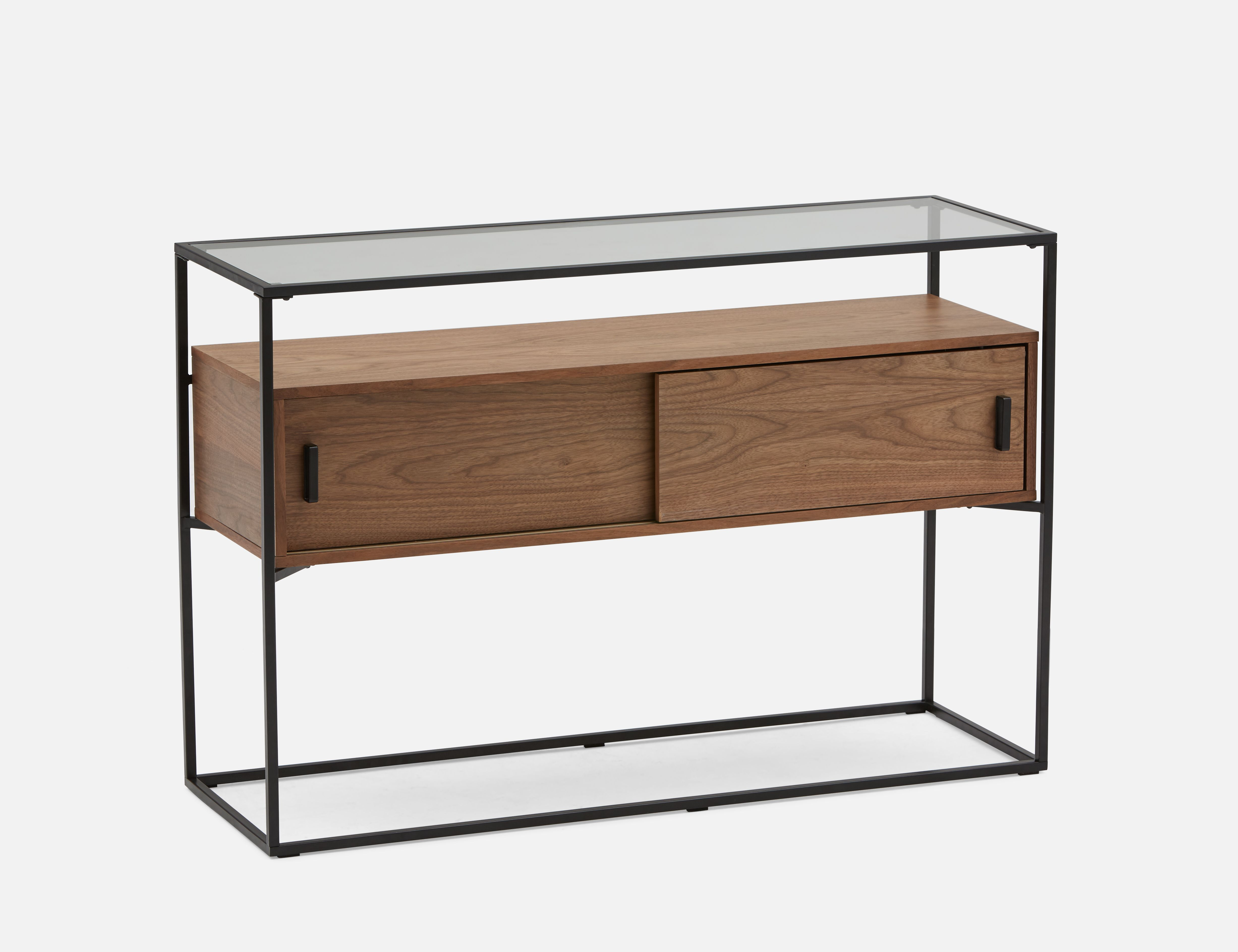 Fine Axel Walnut Veneer Console Table With Tempered Glass Top Dailytribune Chair Design For Home Dailytribuneorg