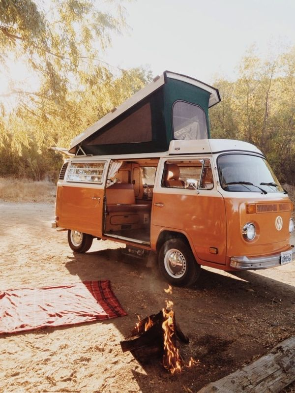 Volkswagon Van VDUB VW Bus Volkswagen Camper The Perfect Vintage Travel Companion For Beach Surf Camping Summer Road Trips Free Your