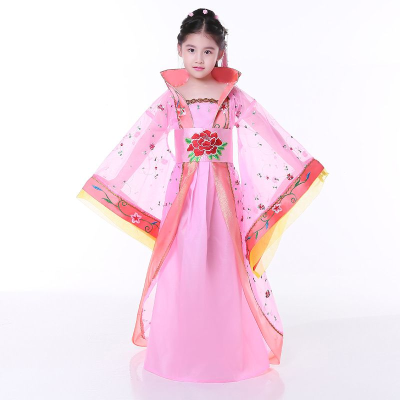 Children Girl Chinese Ancient Dress Hanfu Costumes of Tang Dynasty ...