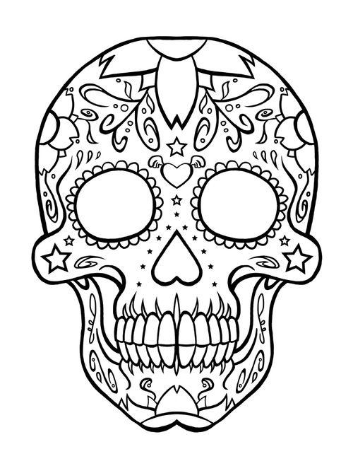 skull drawing - Buscar con Google | Halloween Arts/Crafts | Skull ...