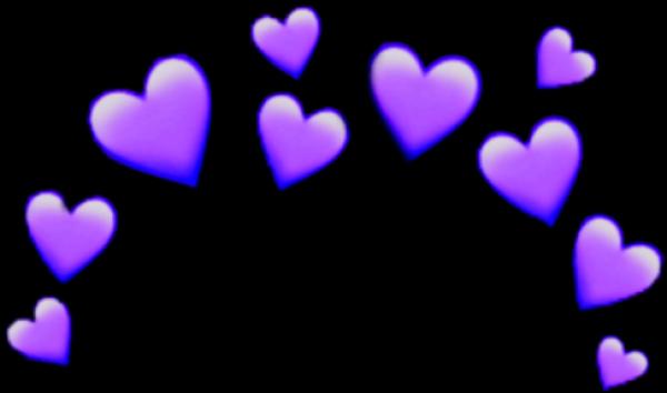 Purple Heart Emoji Transparent Download Crown Heartcrown Iphone Coracao Fotos