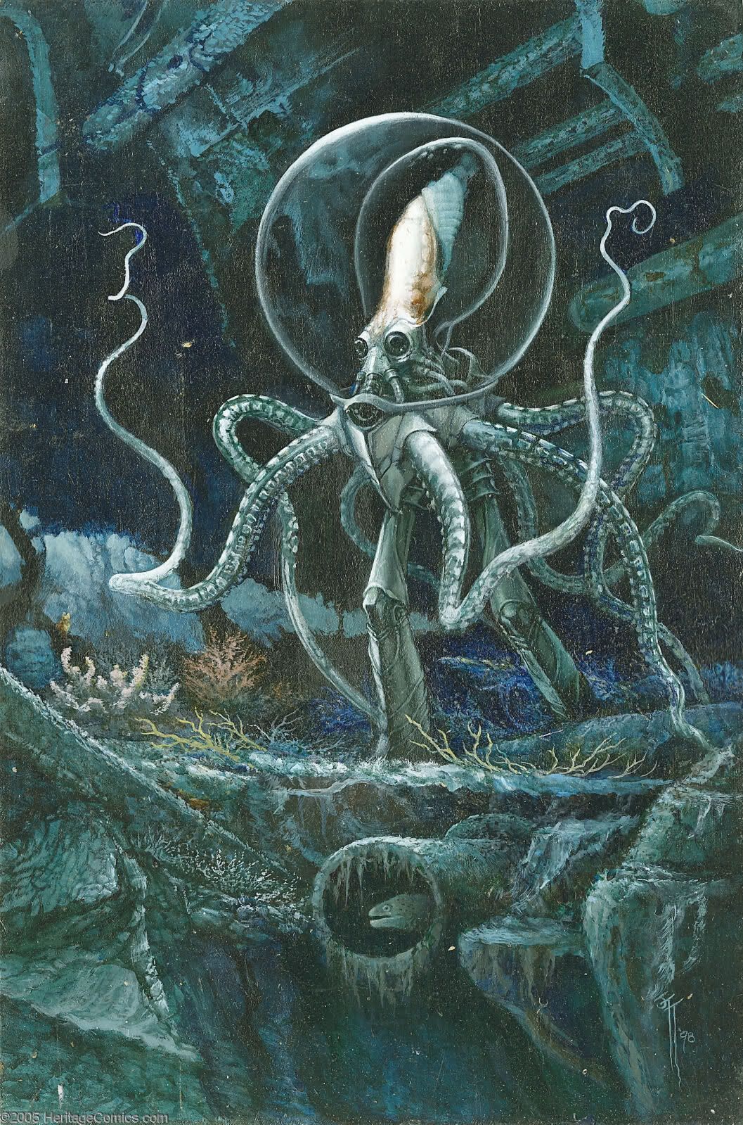 """sciencefictiongallery: """" Earth X - Dr. Octopus illustration (Marvel, 1998) """""""