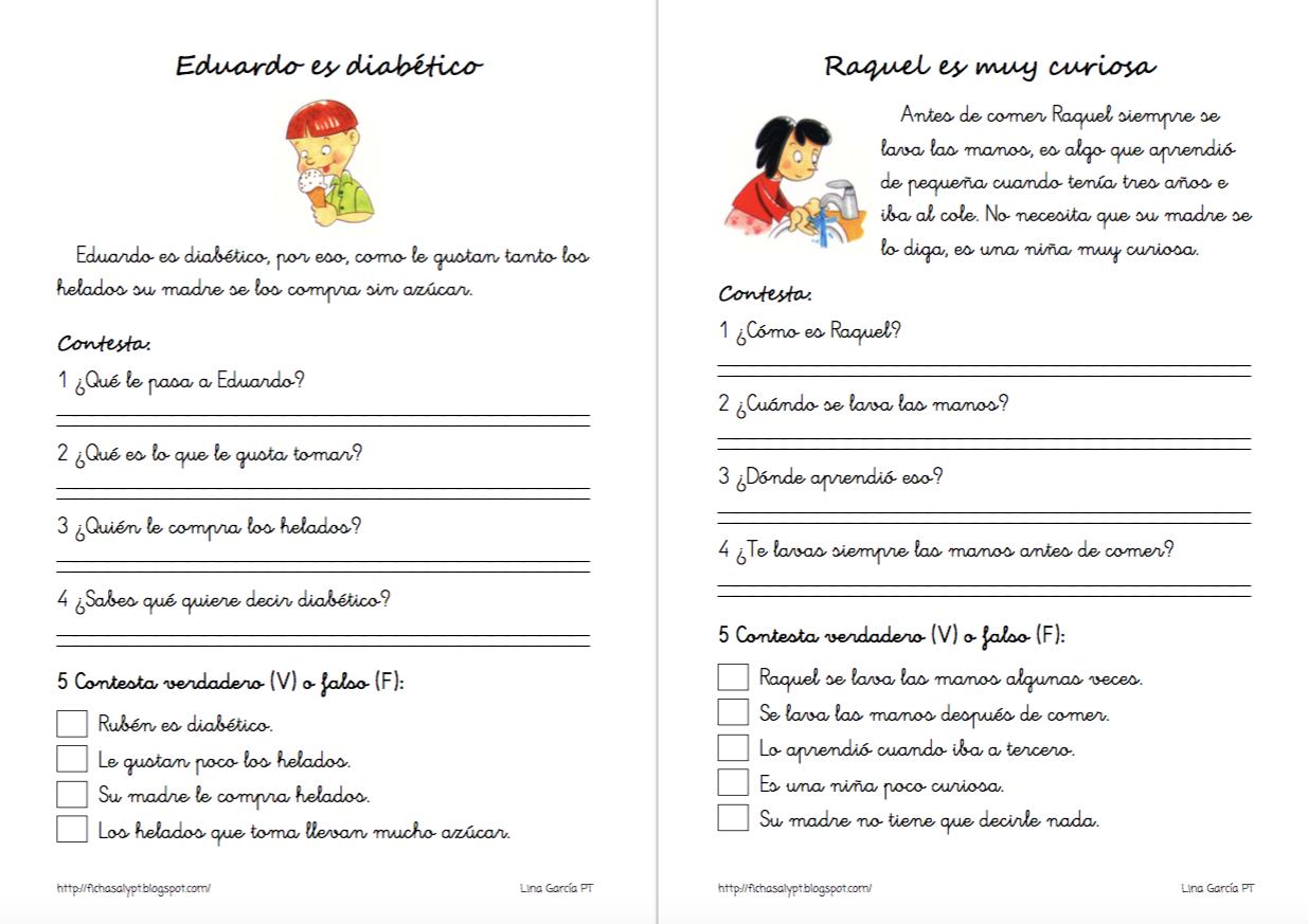 Colección De 25 Fichas De Lectura Comprensiva Ideales Para Primaria Lectura Comprensiva Lectura De Comprensión Lectura
